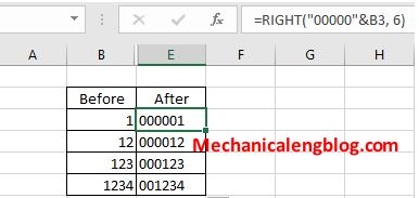 excel right command