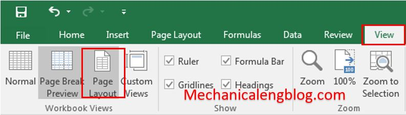 excel-view-page-layout