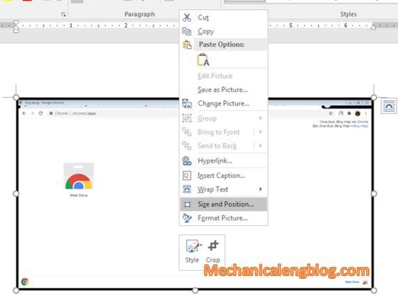 take screenshot in word document 2