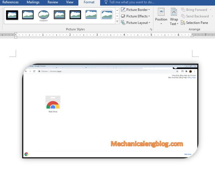 take screenshot in word document 3