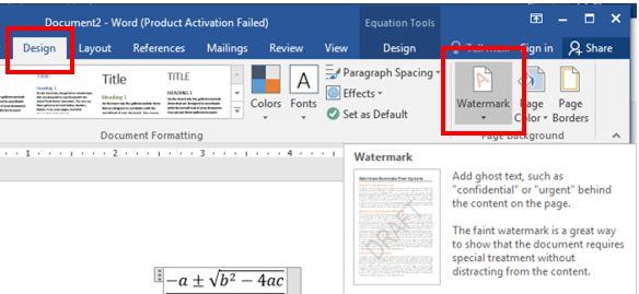word-Watermark feature