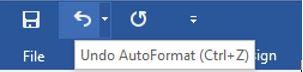 word-undo button