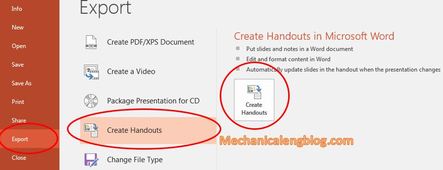 Convert from powerpoint to word document automatically 2