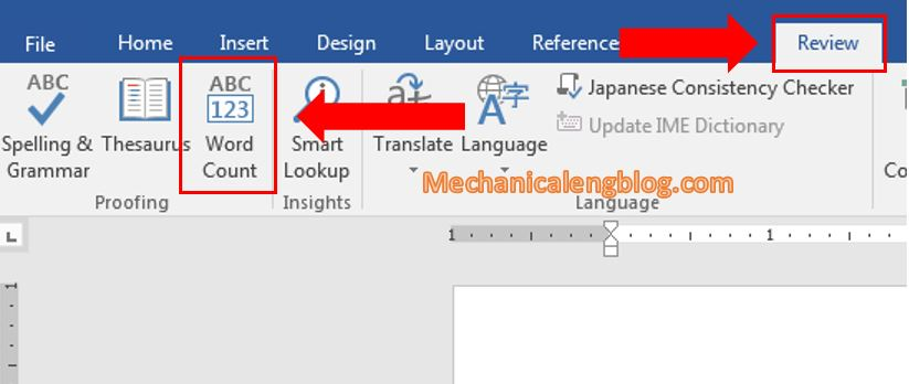 Count number of characters in Word documents 3