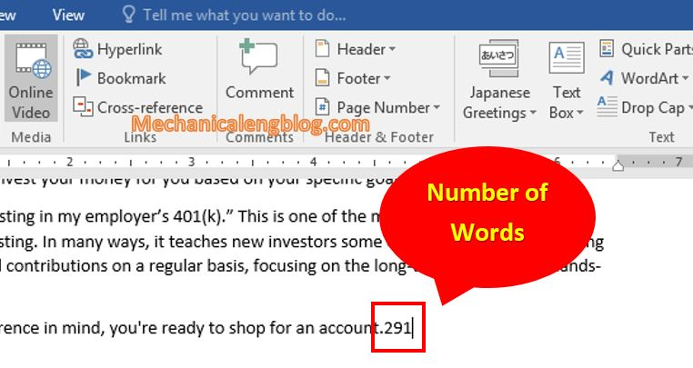 Count number of characters in Word documents 6