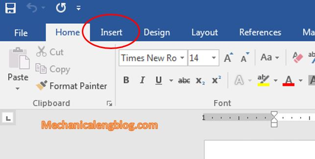 Create header and footer in word by text 1