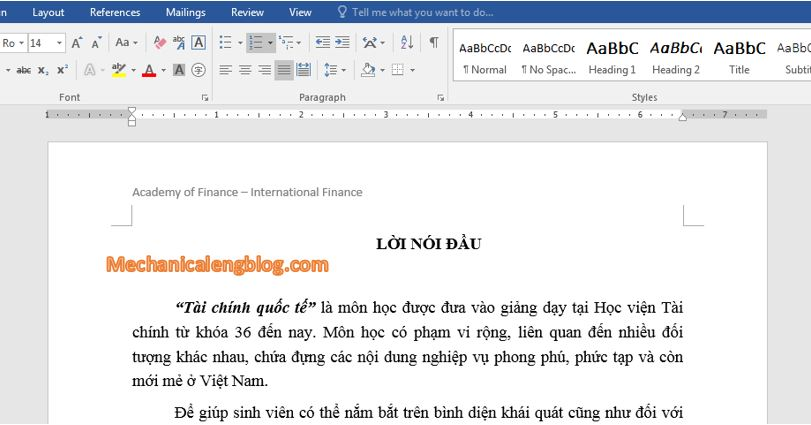 Create header and footer in word by text 6