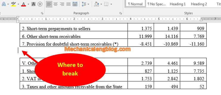 Insert page break in word by using Blank Page feature 1