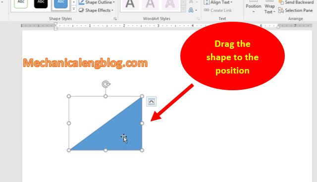 Move shape in word 1 2
