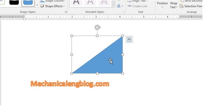 Move shape in word 1