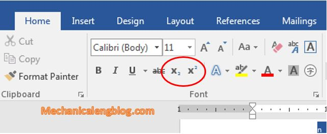 Write superscript and subscript in word manually 4