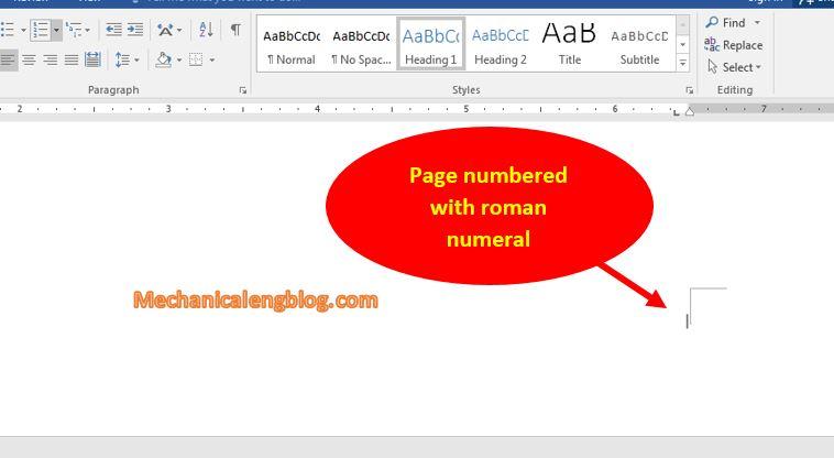 add roman numerals in word 8
