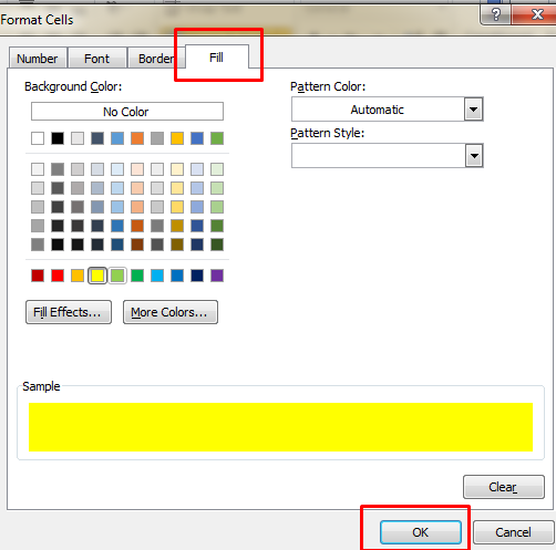 color blank cells in excel 3