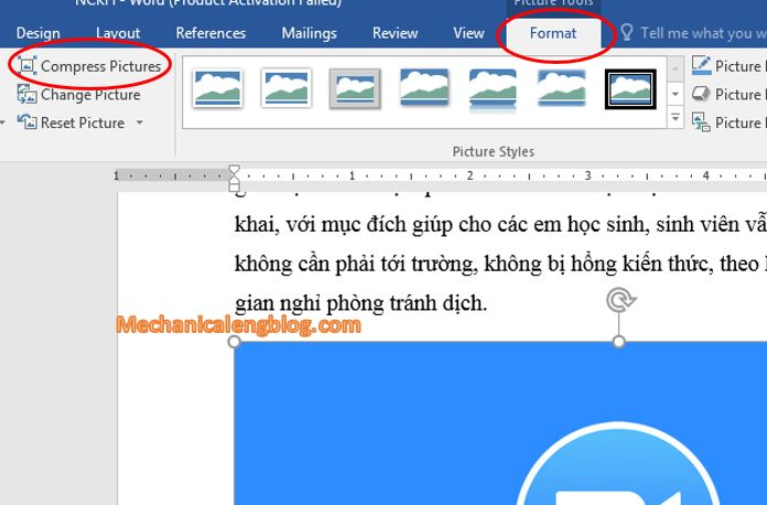 educe the size of a Word document 3