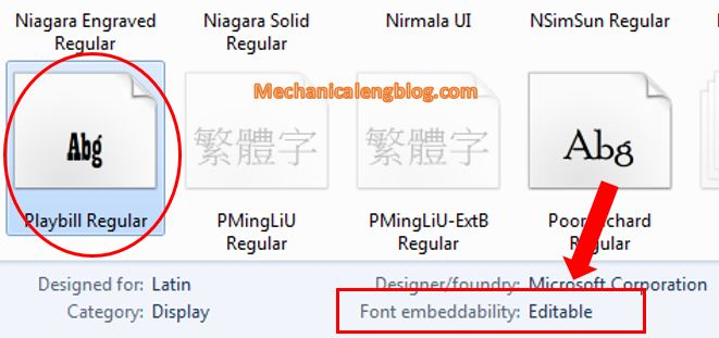 embed font in Word document 3