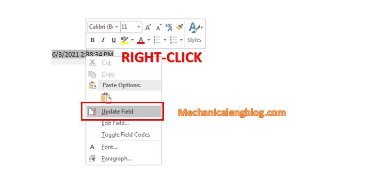 insert current date and time in word document in English format 4