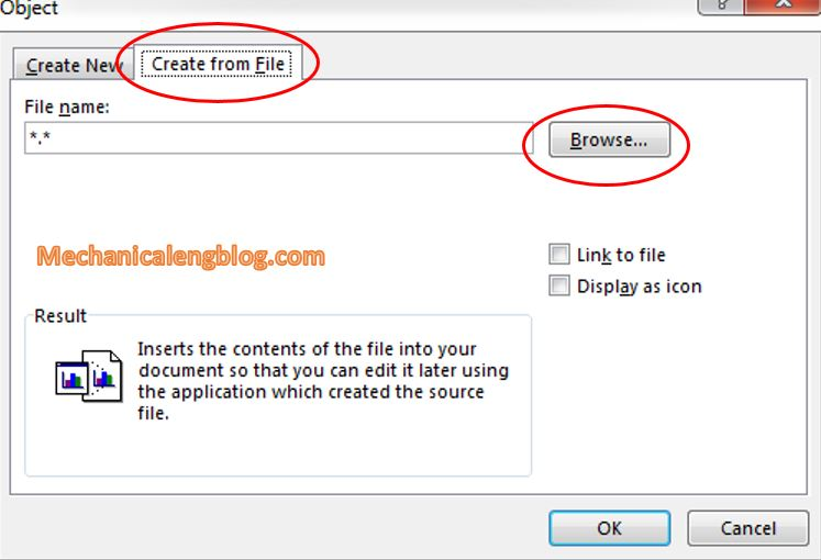 insert excel data to word by Inserting a whole Excel file 2