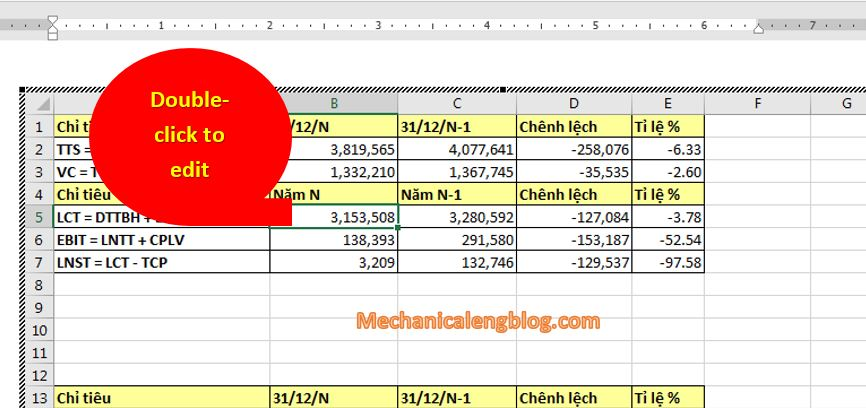 insert excel data to word by Inserting a whole Excel file 6