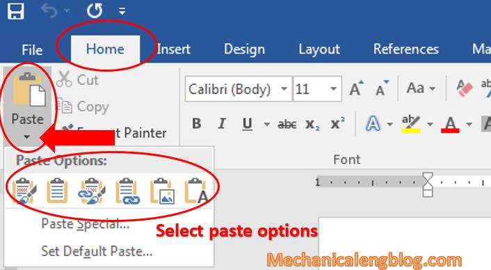 insert excel data to word by copy and paste 2