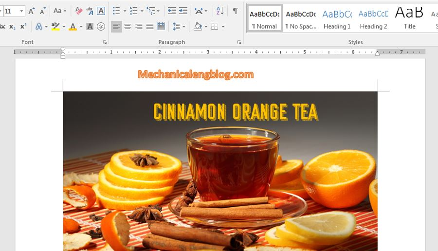write text on a picture in word 2016-6