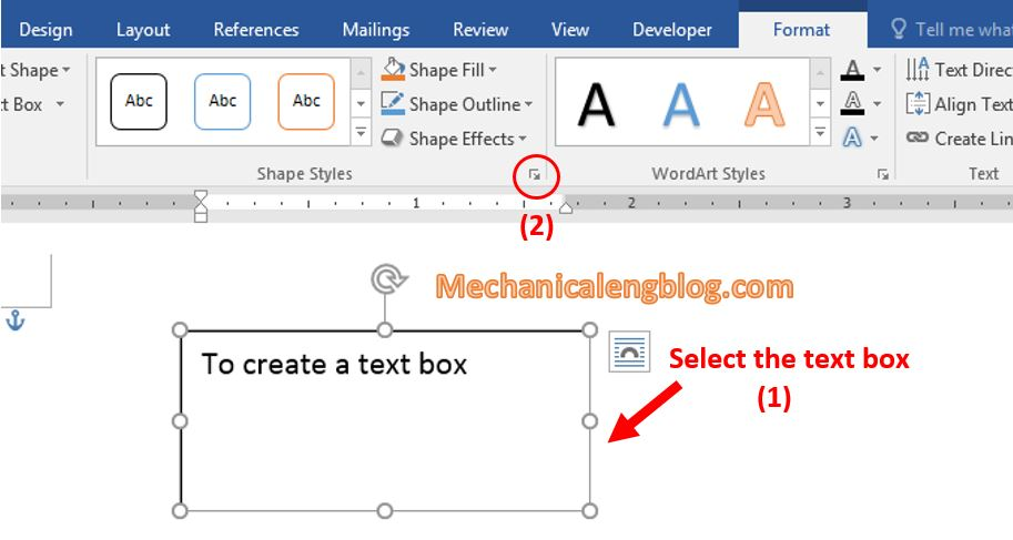 Change the text box color in Word 1