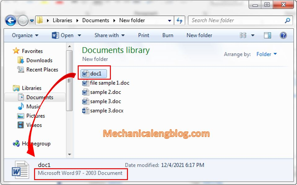 Convert manually doc to docx or vice versa 4