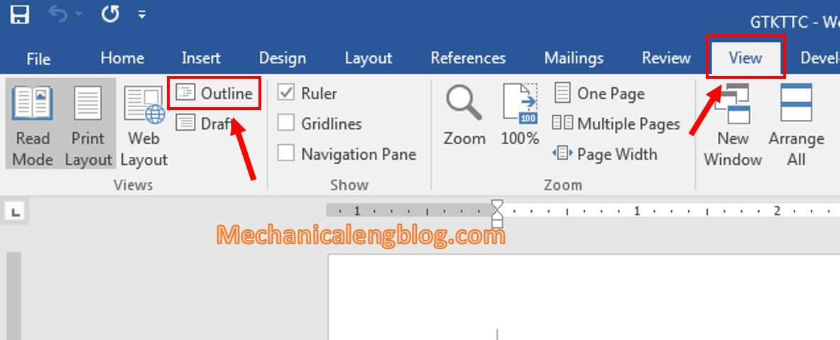 Create a Master Document in word 2