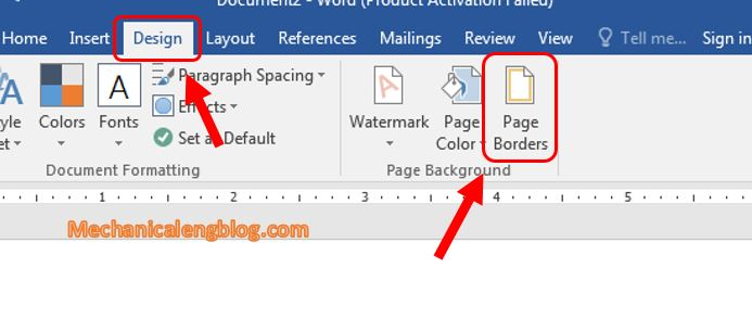 Customize a border in Word 1