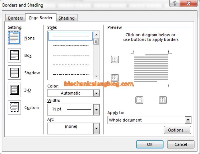 Customize a border in Word 2