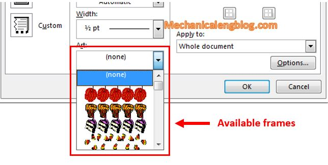Customize a border in Word 3