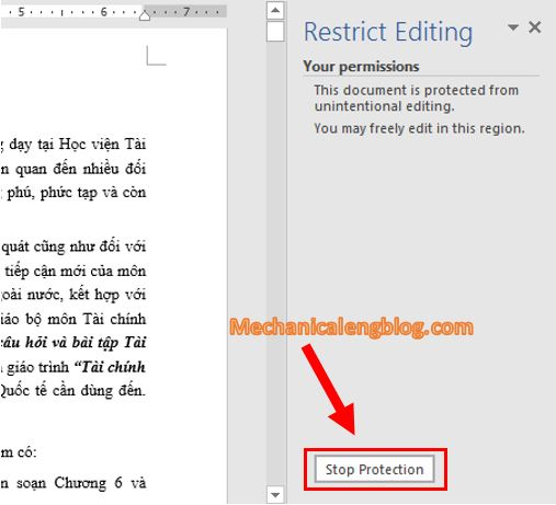 How do I unprotected word document 1