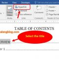 How to add menu bookmark and Hyperlink link in Word 1