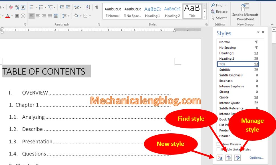 How to create new style in Word 2