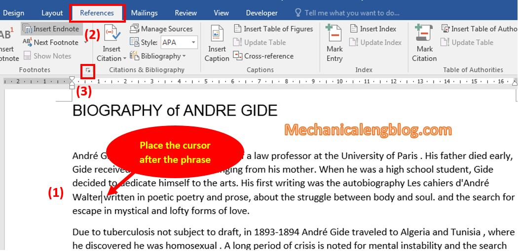How to insert comment in word 1