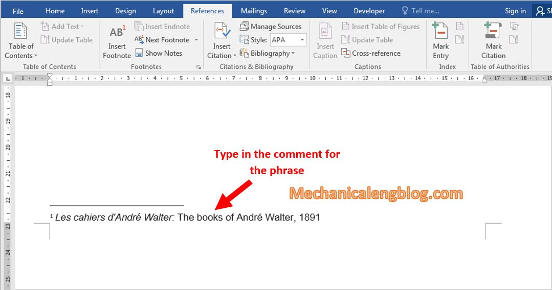 How to insert comment in word 3