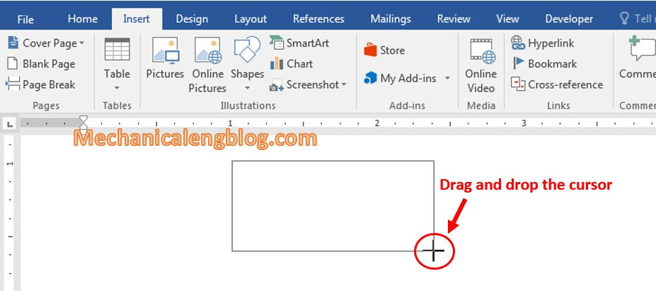 How to insert text box in word 2