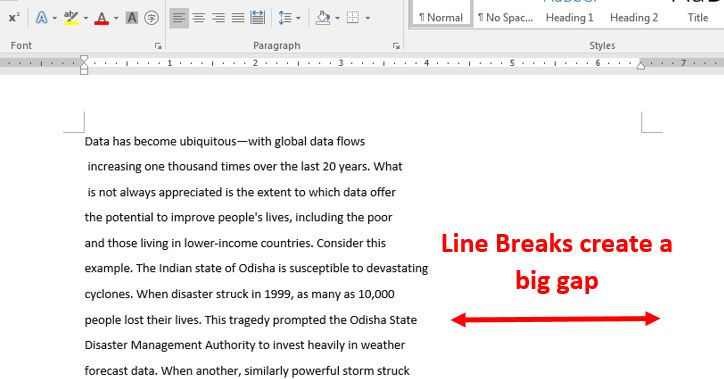 How to remove line breaks in word 2016 1