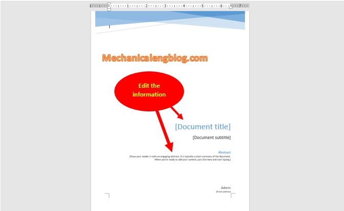 Insert page borders in ms word 2016 according to the available templates 2