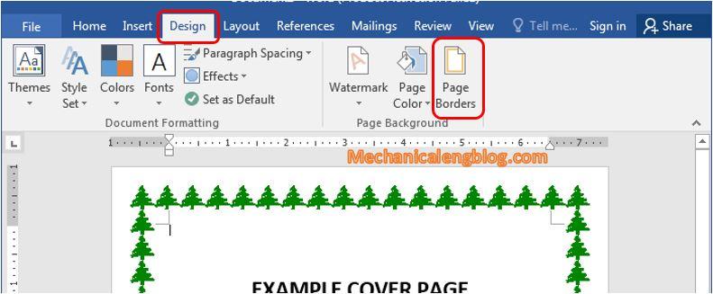 Remove borders in Word 1