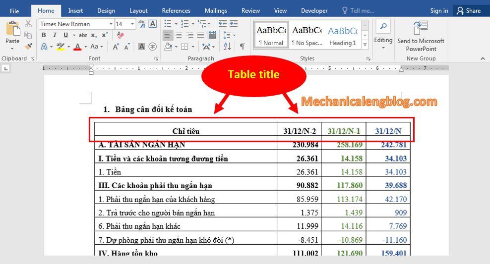 Repeats worksheet headers in Word 1