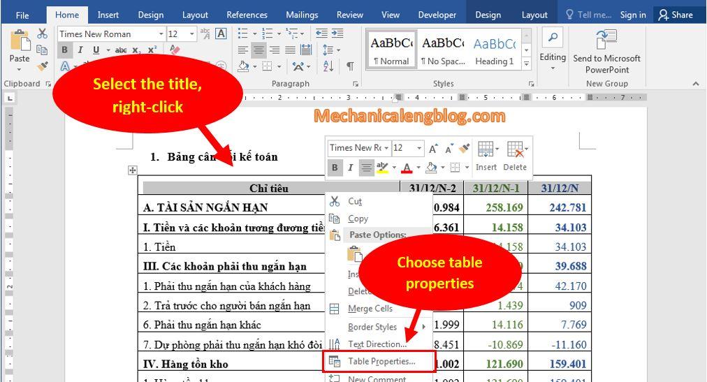 Repeats worksheet headers in Word 2