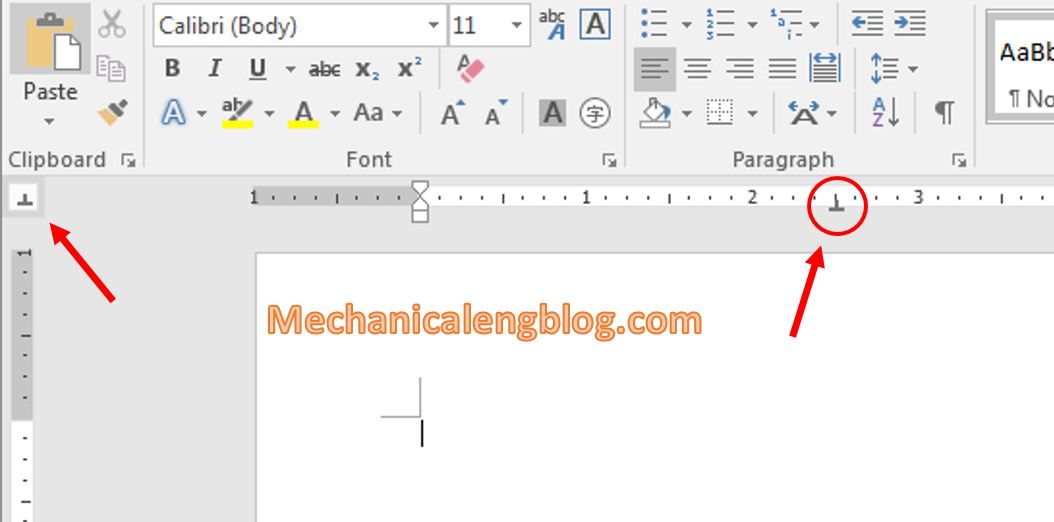 Types of Tab in ms word 3