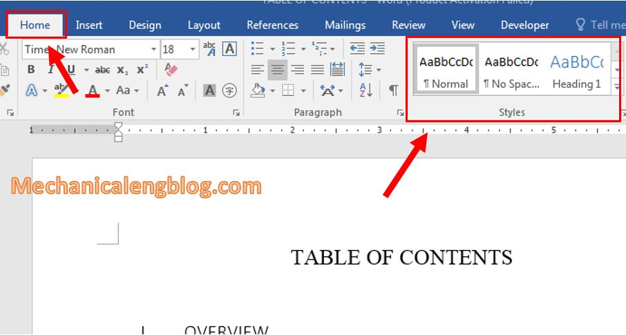Using Style in Word 1