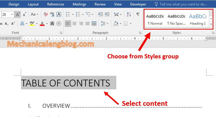 Using Style in Word 2