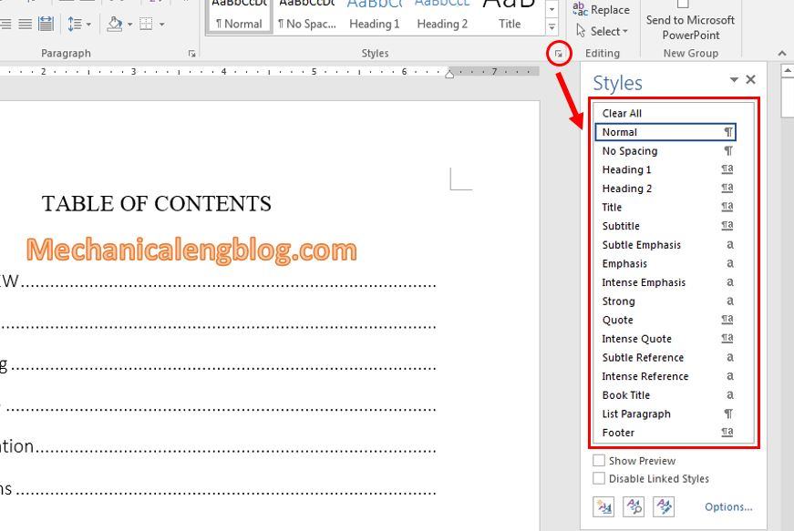 Using Style in Word 3