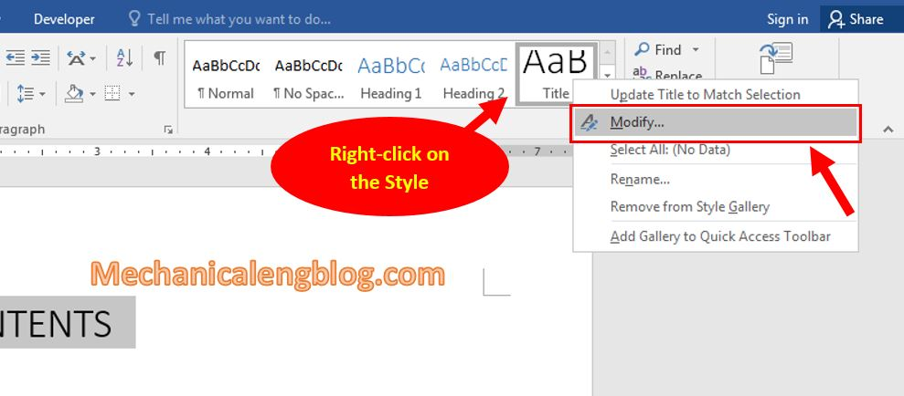 Using Style in Word 4