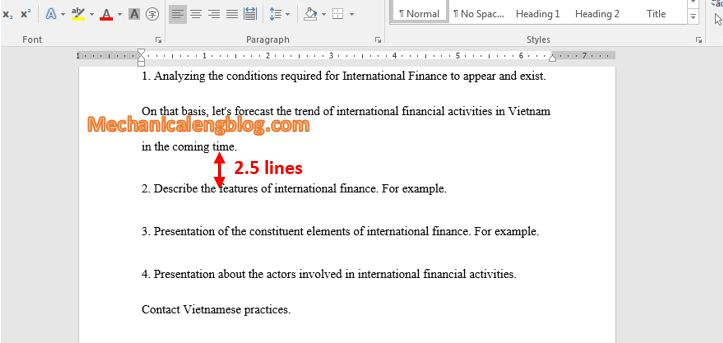 change line spacing in Word quickly 2