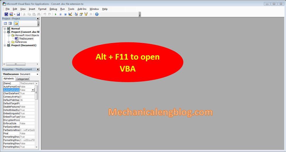 convert doc to docx Using VBA code 2