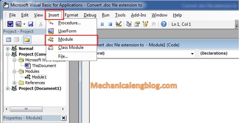 convert doc to docx Using VBA code 3