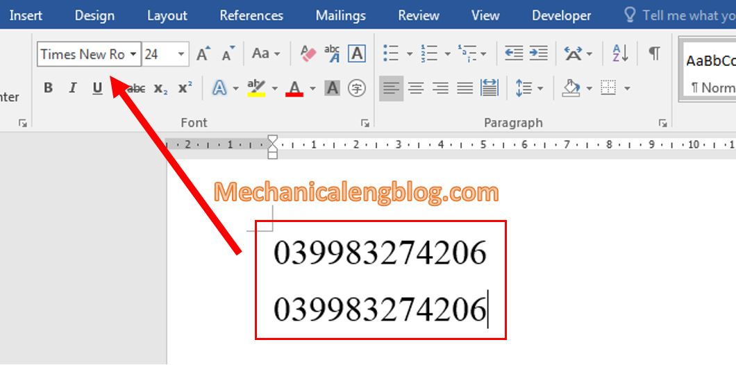 create a barcode in Word 1